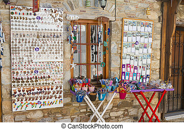 Old Datca - MUGLA, TURKEY - JULY 21: Souvenir shop in Old...