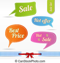 Speech bubbles set- Sale