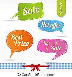 Speech bubbles set- Sale