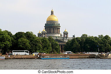 St. Isaac's Cathedral in St. Petersburg - view of St....