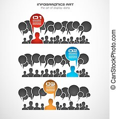 Infographics concept background to display your data in a...
