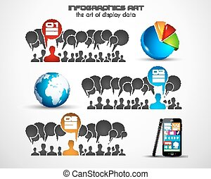 Infographics concept background art - Infographics concept...