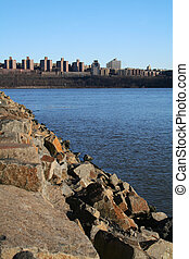 The Bronx - View of The Bronx, New York from New Jersey...
