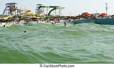 amusement aqua park - summer fun and joy