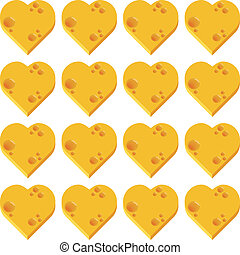 cheese heart seamless pattern