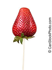 fresh red strawberry isolated