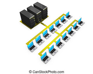 notebooks connected to servers