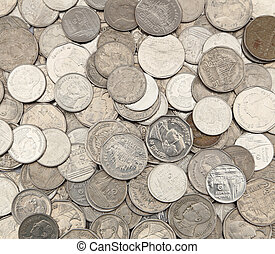 Thai Baht Coins background