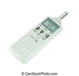 sound level meter on white background with clipping path