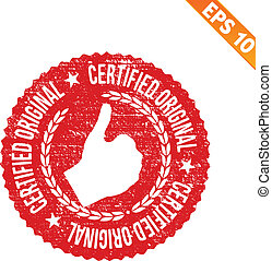Rubber stamp certified - Vector illustration - EPS10