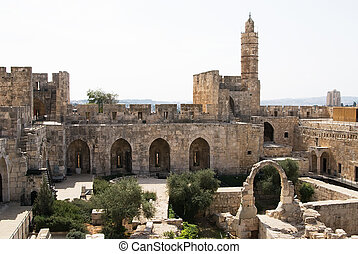 The tower of David in Jerusalem and it´s inner yard