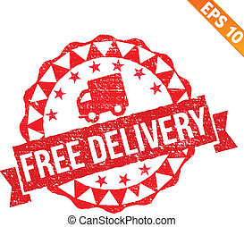 Rubber stamp free delivery - Vector illustration - EPS10