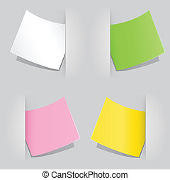 colored paper - The colored sheet of paper popped as...