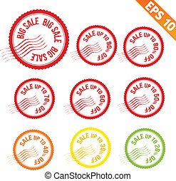Rubber stamp sale tag - Vector illustration - EPS10