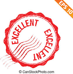 Rubber stamp excellent - Vector illustration - EPS10