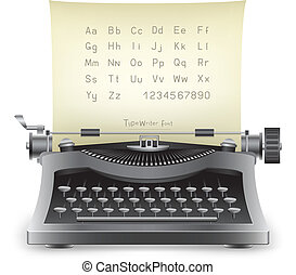 typewriter - The retro desktop black typewriter with...
