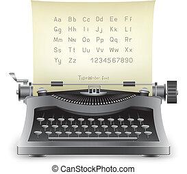 typewriter - The retro desktop black typewriter with...