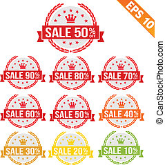 Sale discount tag - Vector illustration - EPS10