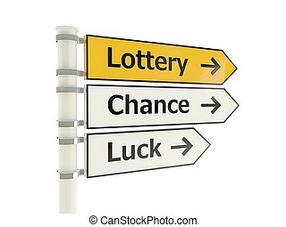 Lottery road sign