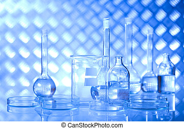 Chemical laboratory, glassware - Chemical laboratory,...