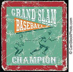 baseball grandslam homerun - baseball vector for shirt...