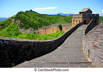 Great Wall China in Jianshaling s zone