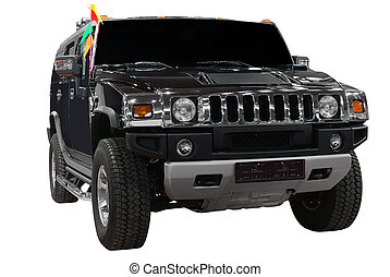 front of strong 4x4 suv isolated