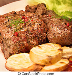 Tasty grilled meat