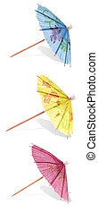 Cocktail Umbrella isolated against white background