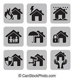 insurance icons over white background vector illustration