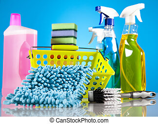 Cleaning supplies - Variety of cleaning products