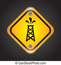 fuel signal over black background vector illustration