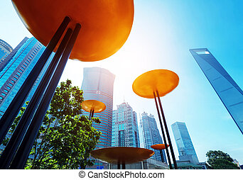 Shanghai Lujiazui Financial Center skyscraper - Shanghai...