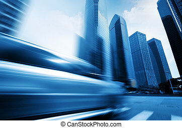 Flew in the car - Highways of the city, flying car, motion...