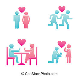 couple design over white background vector illustration