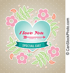 love you - love design over dotted background vector...