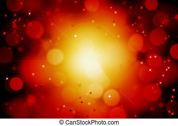 abstract magic sun light ray with glittering stars and bokeh