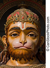 Hanuman statue in Rishikesh, India