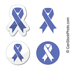 Periwinkle ribbons eating disorder - The internationl symbol...