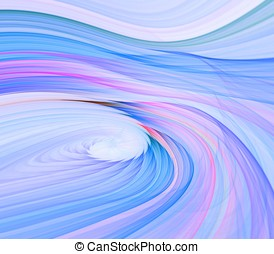 Smooth Blue Twist Abstract - Artistic Abstract Background -...