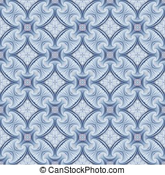 Intricate Woven Abstract - Abstract Background - Woven blue...