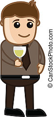 Man Drinking Wine in Party