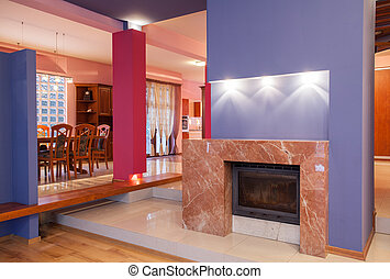 Amaranth house - Fireplace - Amaranth house - Marble...