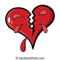 Broken Heart - Vector Illustration