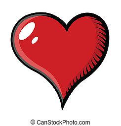 Retro Heart Tattoo Cartoon