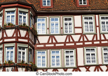 Facade of a half-timbered house, Germany - Facade of a...