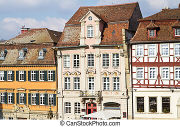 Historic half-timbered houses, Germany