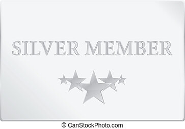 Silver Membership Card Vector Illustration