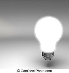 Light bulb 3d rendering