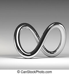3D chrome abstract infinity sign